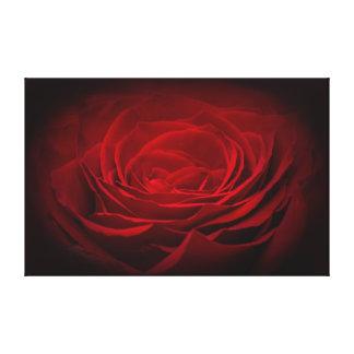 Red rose dark artistic design canvas print