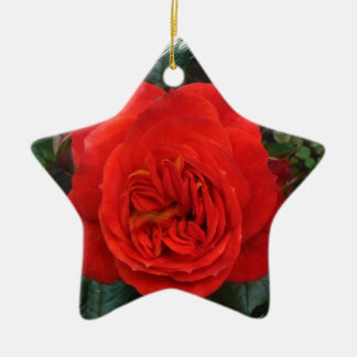 Red Rose Christmas Tree Ornaments