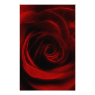 Red Rose depth of love Custom Stationery