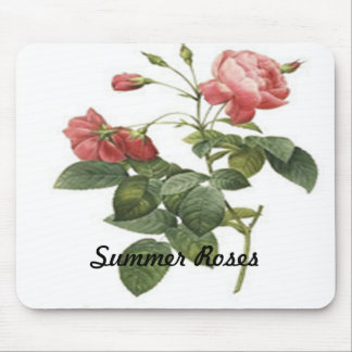 Red Rose Design Mouse Pad