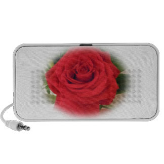 Red Rose Doodle iPod Speakers