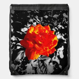 Red rose Drawstring Backpack