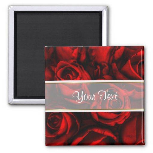 Red Rose Elegance Square Magnet
