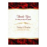 Red Rose Elegance - Thank you 13 Cm X 18 Cm Invitation Card
