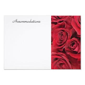 Red Rose Enclosure Card 9 Cm X 13 Cm Invitation Card
