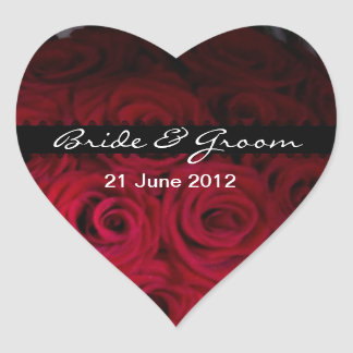 Red rose Envelope and favor Stickers