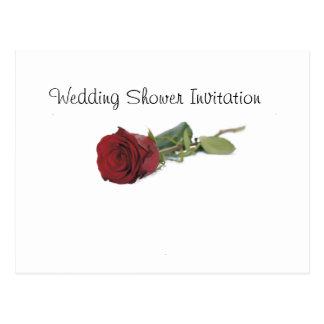 Red Rose Favors Ideas, Wedding Shower Theme Postcard