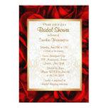 Red Rose Floral Bridal Shower 13 Cm X 18 Cm Invitation Card
