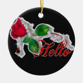 Red Rose Floral Ornament