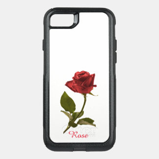 Red Rose Floral Picture Cut Out Flower OtterBox Commuter iPhone 8/7 Case