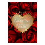 Red Rose Floral Wedding Save the Date