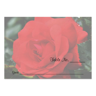 Red Rose Floral Wedding Table Place Cards Business Card Templates