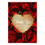 Red Rose Floral Wedding Thank You