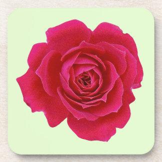 Red Rose Flower Drink Cork Coaster