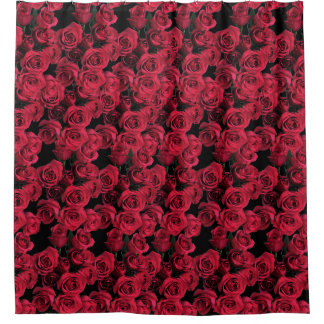 Red Rose Flower Garden Floral Shower Curtain