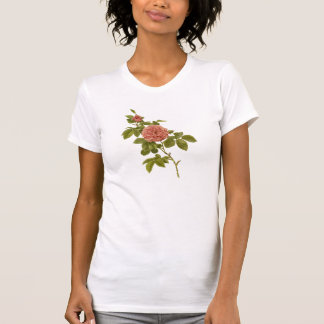 Red Rose Flower Girly Tee Shirt