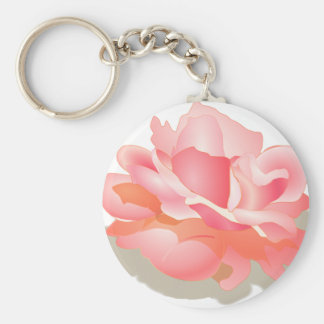RED ROSE FLOWER IN BLOOM. BIG ROSE GIFTS BASIC ROUND BUTTON KEY RING