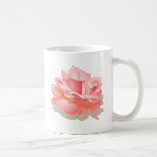 RED ROSE FLOWER IN BLOOM. BIG ROSE GIFTS BASIC WHITE MUG