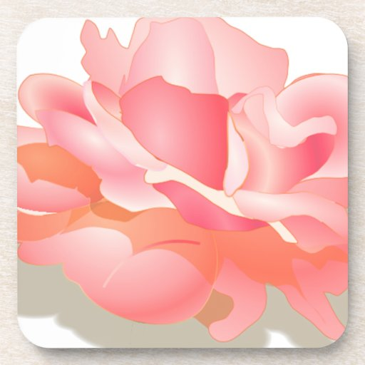 RED ROSE FLOWER IN BLOOM. BIG ROSE GIFTS COASTERS