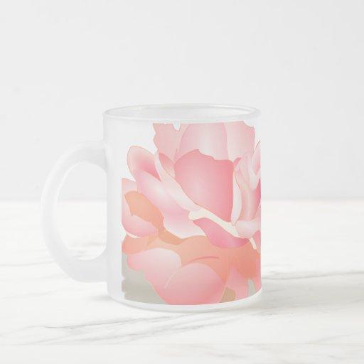 RED ROSE FLOWER IN BLOOM. BIG ROSE GIFTS COFFEE MUGS