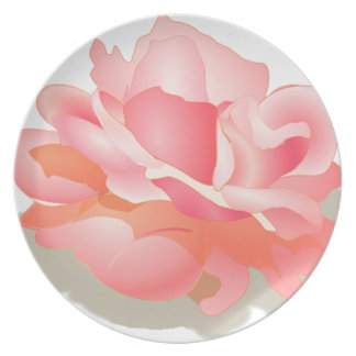 RED ROSE FLOWER IN BLOOM. BIG ROSE GIFTS PLATE