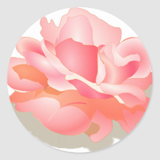 RED ROSE FLOWER IN BLOOM. BIG ROSE GIFTS ROUND STICKER