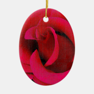 Red rose flowers ornament