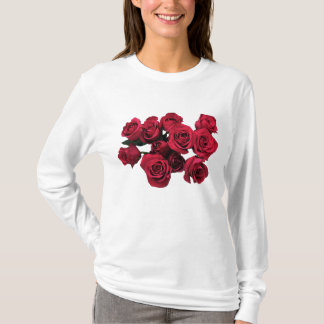 Red Rose Flowers Garden T-shirt