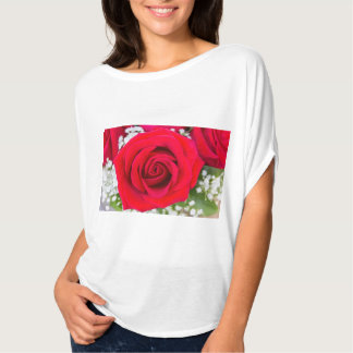 Red Rose Flowy Top T-shirts