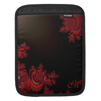 Red Rose Fractal Collection Sleeves For iPads