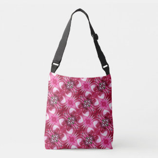 Red Rose Fractals Cross Body Tote Bag