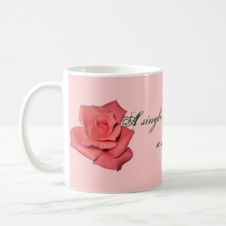 Red Rose Friendship Quote Coffee Mug