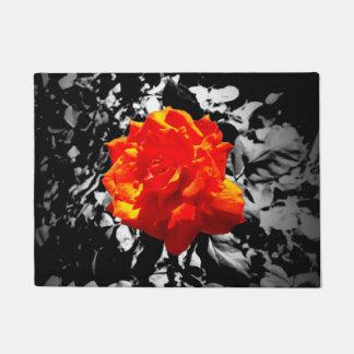 Red rose front doormat
