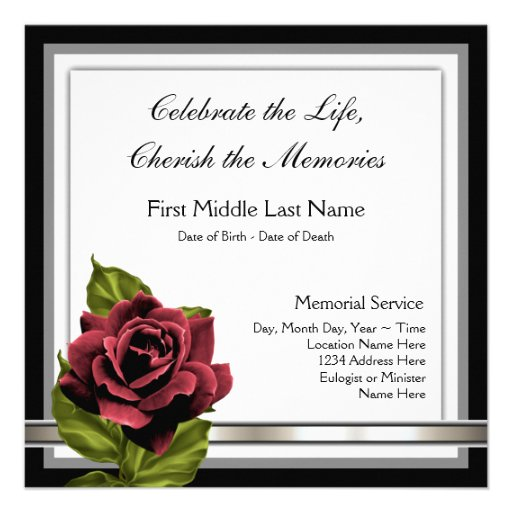 funeral announcement wording templates .