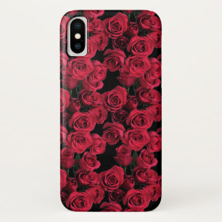 Red Rose Garden Flowers Floral iPhone X Case