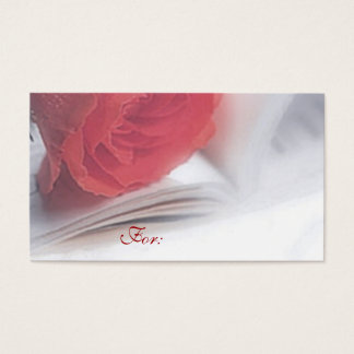 Red Rose Gift Tag Business Card