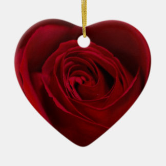 Red Rose Gorgeous Ceramic Heart Decoration