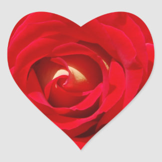 Red Rose Heart Sticker