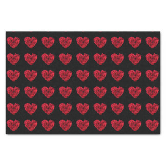 Red Rose Heart Tissue Paper
