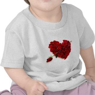 red rose heart t shirt