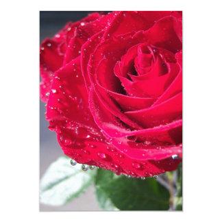 """Red Rose Invitation/Announcement 5"""" X 7"""" Invitation Card"""