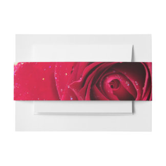 Red Rose Invitation Belly Band