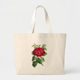Red rose jumbo tote bag