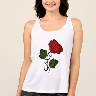 Red Rose Kiss kash002 Singlet