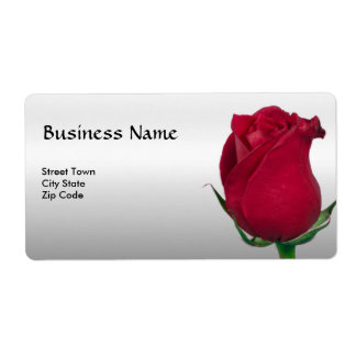 Red Rose Label Elegant Personal Business Shipping Label