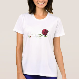 Red Rose Lady Bug Ladies T-shirt
