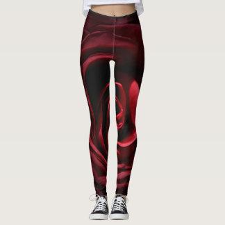 Red Rose Leggings