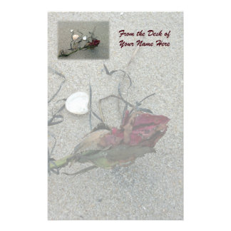 Red Rose Lost at Sea Personalised Stationery