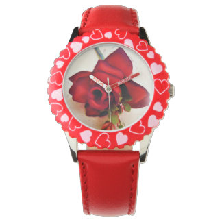 Red Rose,Love_ Wrist Watches
