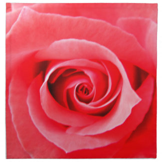 Red rose macro photo printed napkin